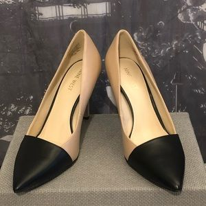 Nine West | Black Pointed Tip Nude Heels (4inch)